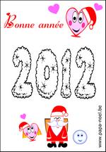 Coloriage Bonne annee 2012 dessin nouvel an 2012 nouvelle annee 2012 ...