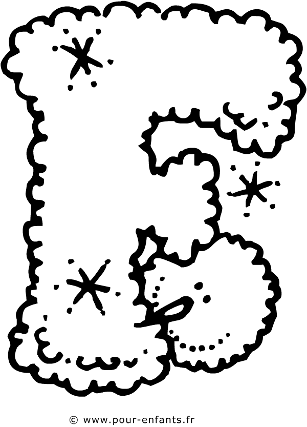 La lettre f - Dessin lettres alphabet ...