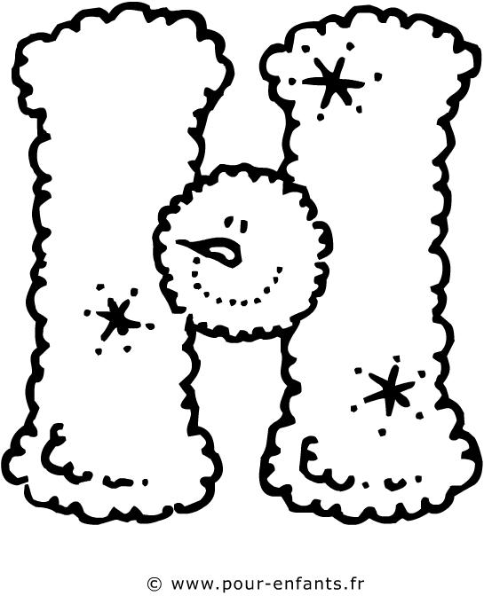 La lettre H | Lettres de l'alphabet