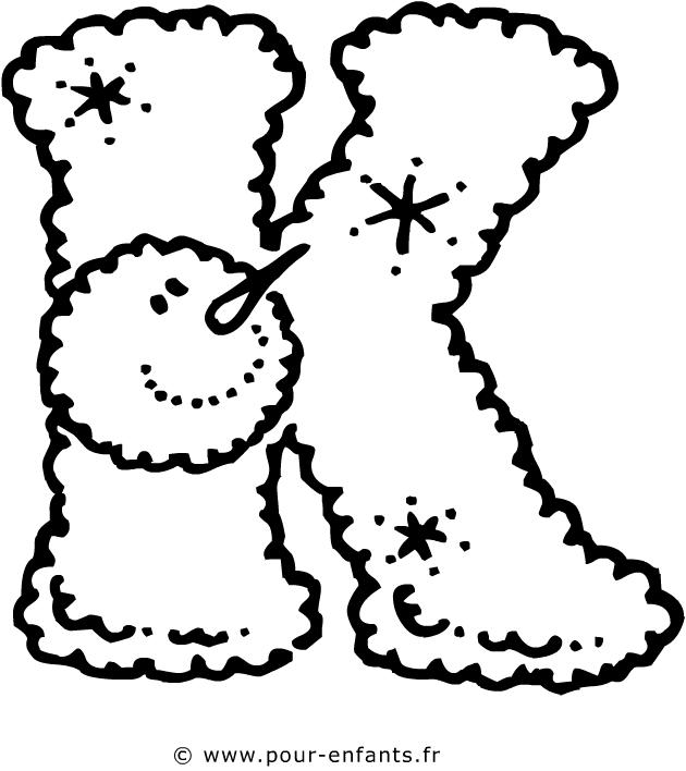 Coloriage des lettres de l - Dessin lettres alphabet ...
