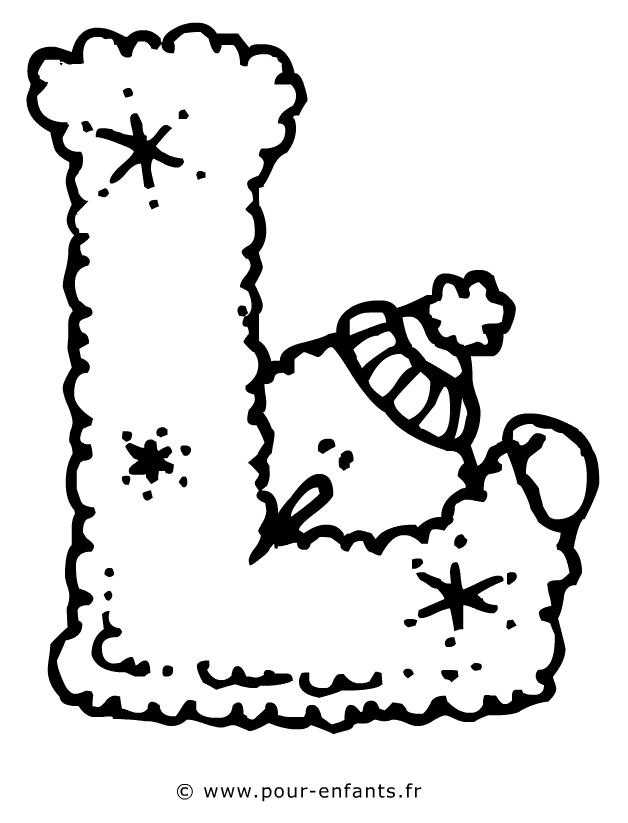 Dessin de la lettre l à imprimer les lettres de l alphabet