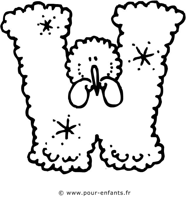 Coloriage lettre w - Dessin lettres alphabet ...