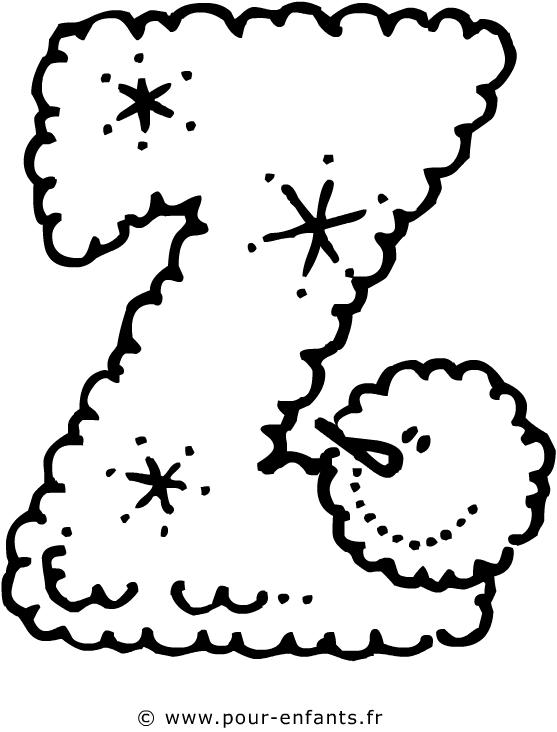 dessin de la lettre z a imprimer les lettres de l alphabet